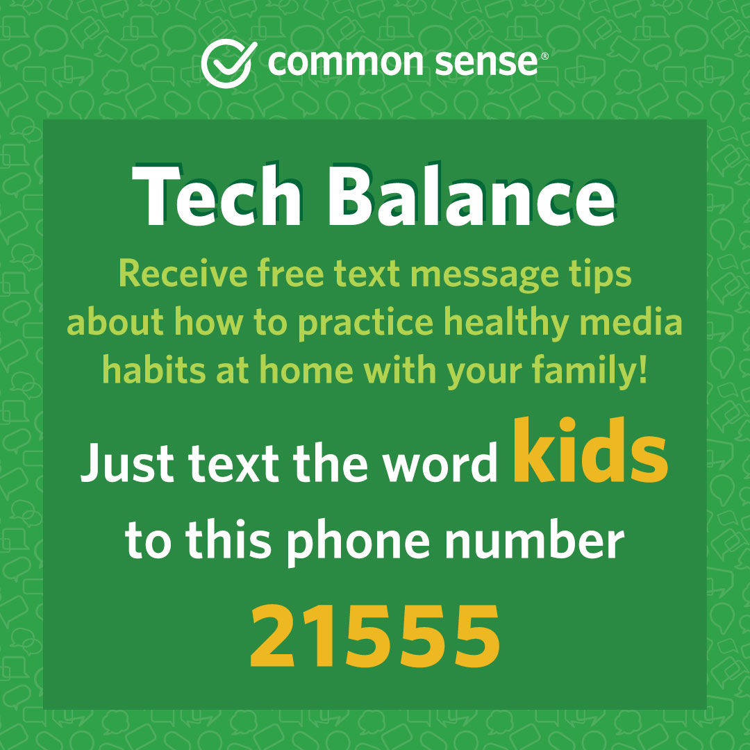 Common Sense Education Text Campaign for Ages 3-8